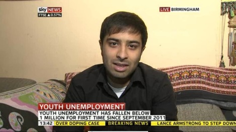 I appeared live on Sky News to talk about Youth Unemployment in the UK. Just by getting myself out there, and being recommended by somebody I'd met 2 days before. 70% of success, is just showing up.