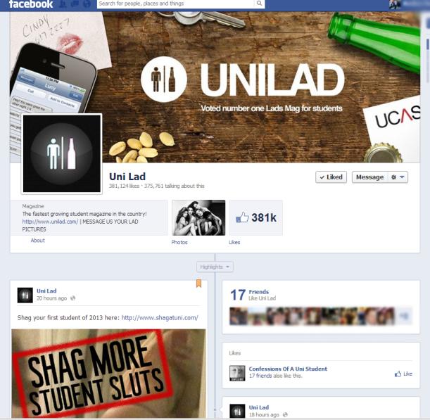 UniLad FB page